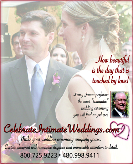 Ad for Arizona's Finest Wedding Sites & Services Magazine